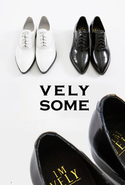 【予約商品】[VELYSOME] No,18 Pointed Toe Leather Oxford Shoes